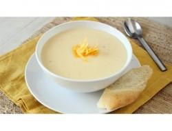 Sajtkrém leves fokhagymás pirítóssal