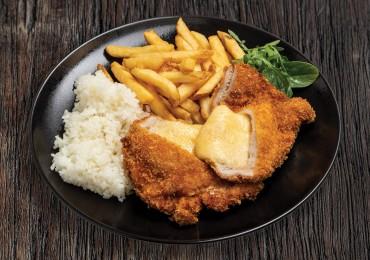 Kétféle sajttal töltött csirkemell v. karaj